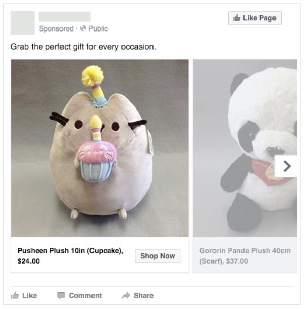 facebook dynamische advertentie sjabloon