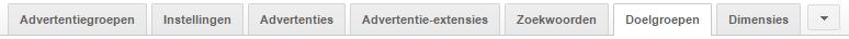 Doelgroepen in Google AdWords menu