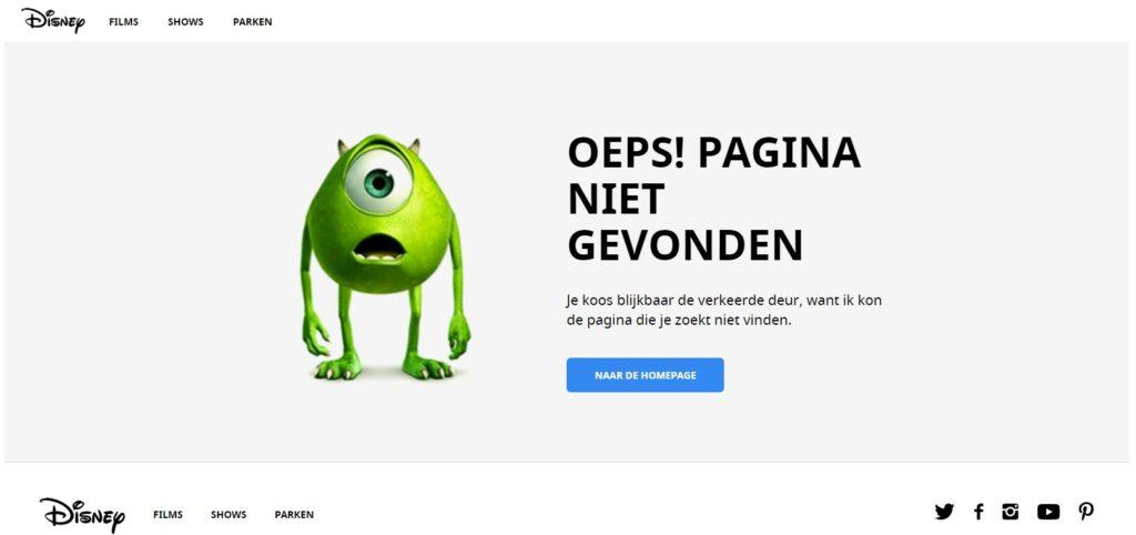 Disney 404 pagina