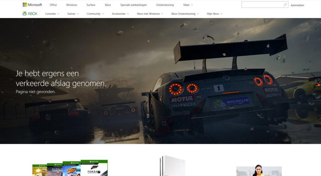 Xbox 404 pagina