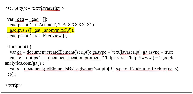 IP adres anonimiseren met ga.js