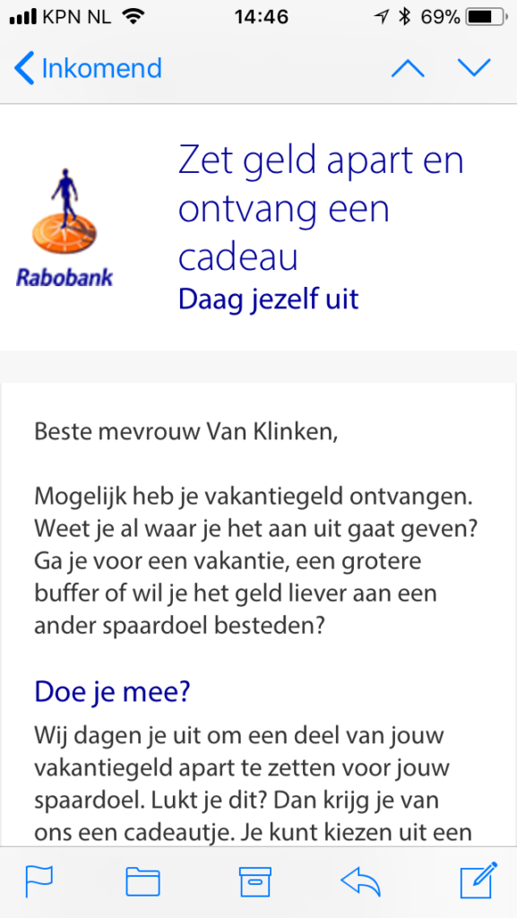 E-mail marketing Rabobank
