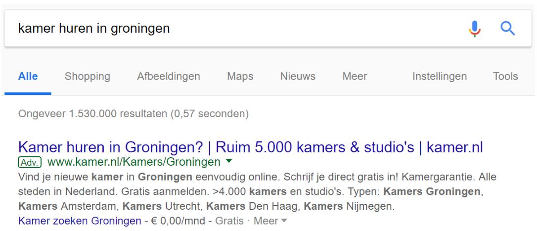 Ad Kamer huren in Groningen