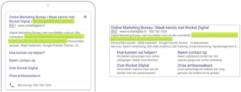 Google Ads Uitgebreide tekstadvertentie