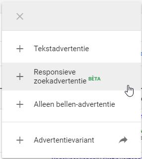 Responsieve zoekadvertenties aanmaken