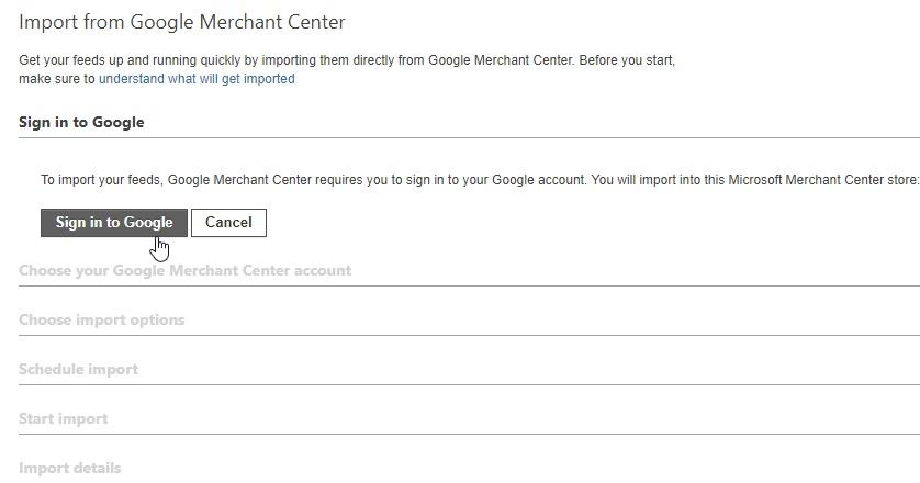 Koppeling maken met Google Merchant Center