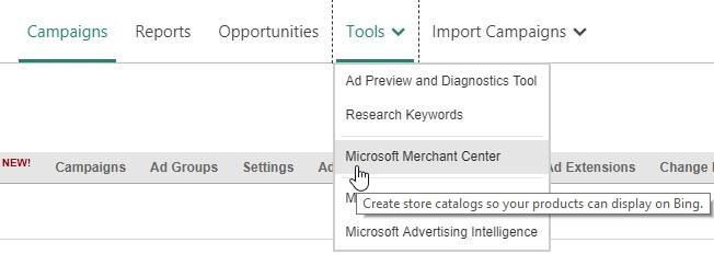 Microsoft Merchant Center
